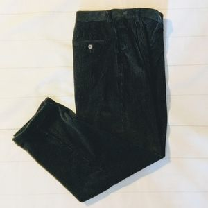 EDDIE BAUER Blk Wide Wale Corduroy Trousers Sz 10